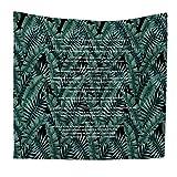LY-tapestry Tropische Palmblätter Dekor Tapisserie Englisch Alphabet Muster Woven Couch Decke, Leichte Polyester Stoff Hippie hängenden Wand-Dekor, Beach Throw, 200 * 150cm