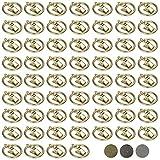 Miadomodo - Anneaux à pinces pour tringle à rideau - en fer – Set de 60 – Or antique – COLORIS ET SET AU CHOIX