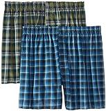 Hanes Men's Tartan Boxers with Comfort Flex® Waistband 2-Pack