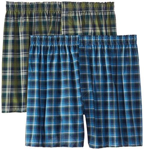 Hanes Men's Tartan Boxers with Comfort Flex® Waistband 2-Pack (Boxer Tartan Hanes)