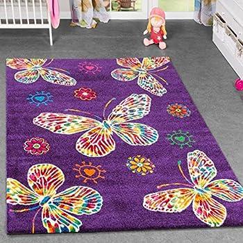 Multicolore filles tapis de jeu easy clean papillon fleurs enfants tapis bébé playmat