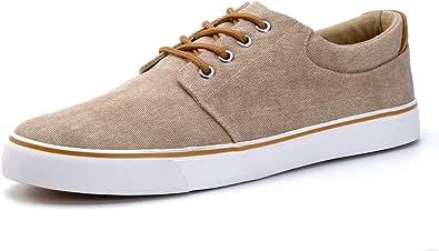 DREAMY STARK Men Waterproof Canvas Shoes Fashion Skate Shoe Casual Low Top Sneakers