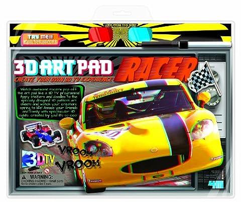 4M Racing Cars 3D Art Pad