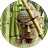 Guokee Simple Horloge Vintage Bouddha Conception Silencieuse Salon Cuisine Home Decor Montres Mur Art Grand Horloges Murales
