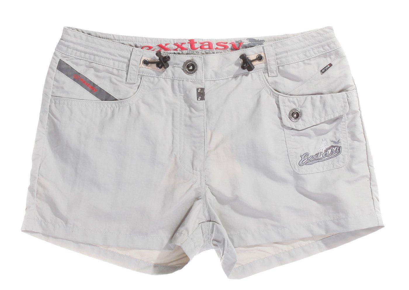 Exxtasy-Pantaloni corti da donna grigio 16 cm