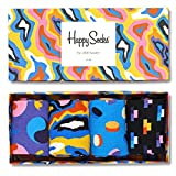 Happy Socks Damen XPOP09-Pop Gift Box, 4er Pack, (Blau 6001), One Size (Herstellergröße: 36-40)