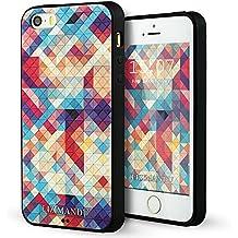 iPhone 5 Funda,iPhone 5s Funda,iPhone SE Funda,Lizimandu 3D Patrón Protectiva Carcasa de Silicona Gel TPU estrecha Case Cover Para Apple iPhone 5/5s/se(Colorful Estopa/Colorful Pizzle)