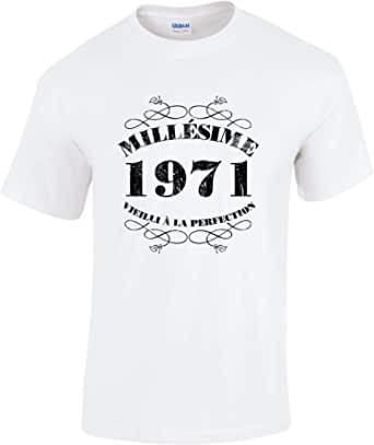 Bang Tidy Clothing T-Shirt Anniversaire Homme 50 Ans MillAsime 1971