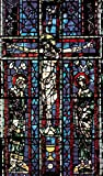 A4 Photo Old Masters c1900 Window of Christ from church at