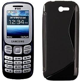 Azzil Back Cover Hybrid S Line Matte Finish Black Case for Samsung Metro B313E