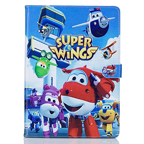 Phenix Schutzhülle für iPad 4/3 / 2, mit Standfunktion, PU-Leder, Design Super Wings, 04 (3 Case Ipad Hulk)