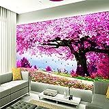 Wapel Benutzerdefinierte Fototapete Stick Romantischen Kirschbaum Ästhetische Dekoratives Wandgemälde Hintergrund Wand 430 Cmx 300Cm