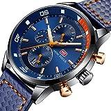 MF Mini Fokus Herren Analog Armbanduhr Chronograph Wasserdicht Business Quarz Handgelenk Uhren für Geschenk