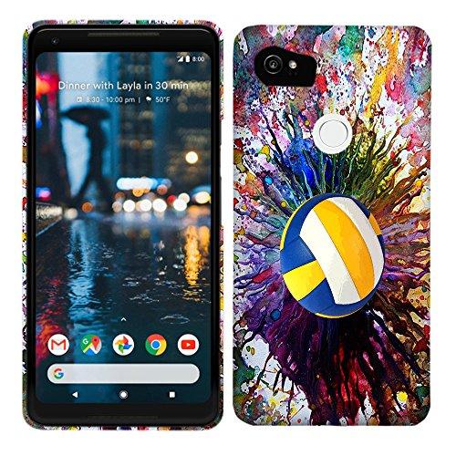 Google Pixel 2XL/Pixel XL 2Fall-Vintage Farbe Volleyball Hartschale Kunststoff Back Cover. Slim Profil Cute Bedruckt Designer Schutzhülle Zum Aufstecken von Glisten