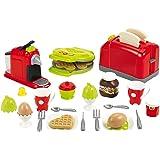 Jouets Ecoiffier – 2647 - Coffret toaster grand modèle + petit déjeuner pour enfants- 33 pièces – Dès 18 mois – Fabriqué en