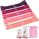 HASAGEI motståndsband hudvänliga träningsband med 5 nivåer träning stretchband gym för fitness, yoga, muskelbyggnad och mer