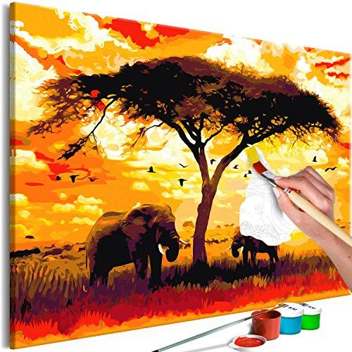 murando - Malen nach Zahlen XXL Afrika 120x80 cm Malset mit Holzrahmen auf Leinwand für Erwachsene Kinder Gemälde Handgemalt Kit DIY Geschenk Dekoration n-A-0563-d-a