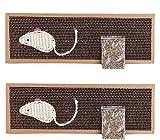 BPS 2Pcs Rascador Gatos Rascador de Cartón Juguetes Gatos Accesorio Ideal para Afile Las Uñas (2 Pcs 13x38cm) BPS-1852 * 2