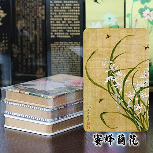 Asibg Home cinese regali ricamato panno Art rossetto caso, modelli di ricamo colori consegna casuale, Bee orchid
