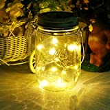 Mason Jar Licht Solar LED Glas Hängeleuchte Outdoor String Laterne Dekoration für Zuhause Party...