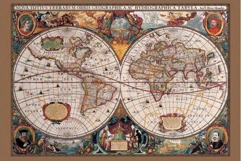 1art1 43792 Weltkarten - Weltkarte Des 17. Jahrhunderts Poster (91 x 61 cm)