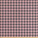 ABAKUHAUS Rosa Palido Tela por Metro, Pastel Pata De Gallo, Decorativa para Tapicería y Textiles del Hogar, 2M (160x200cm), Rosa Pálido Gris Carbón