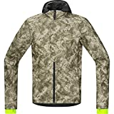 GORE BIKE WEAR Herren Soft Shell Stadtfahrrad-Jacke, GORE WINDSTOPPER, ELEMENT URBAN PRINT WS SO Jacket, Größe: L, Camouflage, JWUELE