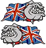 Sticar-it Ltd Handed Pair Of BRITISH BULLDOG Union Jack...