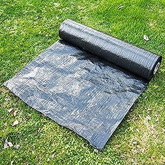 Membrana de tela para control de malas hierbas de jardín, membrana de cubierta de suelo, sábana de suelo para invernadero transpirable para paisajismo, estabilización del suelo, bajo cubierta, cama de flores