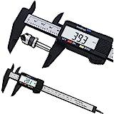 150mm 6 inch LCD Digital Electronic Carbon Fiber Vernier Caliper Gauge Micrometer