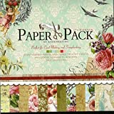 Craftdev Set Of 24 Thick Beautiful Pattern Design Printed Papers- 12 X 12 Inch - 12 Unique Designs