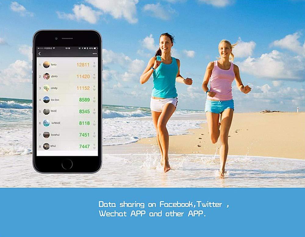 GerTong Fitness Pulsera de seguimiento de actividad con monitor cardíaco, banda inteligente M2, resistente al agua… 2