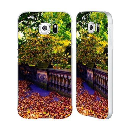 Park Rahmen (Offizielle Haroulita Hirsch In Central Park Orte 4 Silber Rahmen Hülle mit Bumper aus Aluminium für Samsung Galaxy S6)