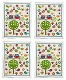 Handtücher 4er Set Eulen Gästehandtuch Frotteetücher Set 4 Stück