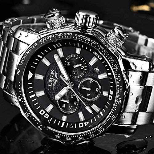 Relogio Masculino Men Watches Lige Top Brand Luxury Business Reloj De Cuarzo Hombres Dial Grande Moda...