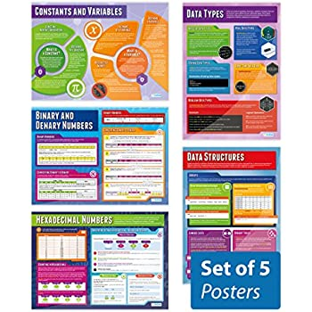 Data Representation Posters A1 Computer Science Posters Education Charts by Daydream Education Set of 5 | STEM Posters for the Classroom Gloss Paper measuring 850mm x 594mm