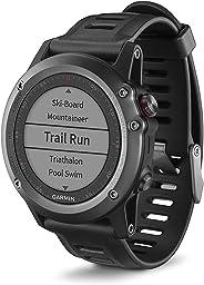 Garmin Fenix 3 Smartwatch GPS Multisport, Display a Colori, Altimetro Barometrico e Bussola Elettronica, Grigio/Nero