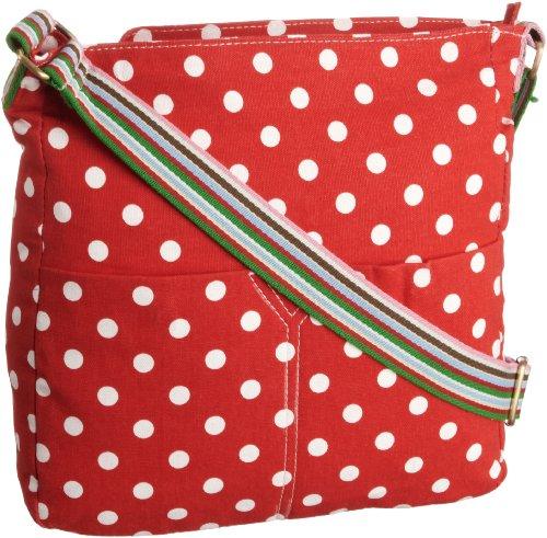 SwankySwans Kirsty Polka Print, Borsa a tracolla bambina Rosso (rosso)