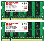 Komputerbay 2X1GB 2GB DDR2533MHz PC2-4200 PC2-4300 (200 PIN) SODIMM Laptop-Speicher