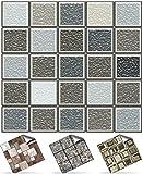 30 stück Fliesenaufkleber für Küche und Bad (Tile Style Decals 30xNTP 0- 6'-Warm Grey)   Mosaik...
