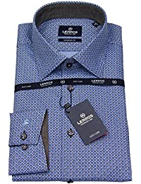 Lerros Herren Hemd Modern Fit Print blau 4681442 782