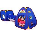 3 en 1 Pop Up Jouer Tente avec Tunnel, Tunnel léger et Pliable des Enfants,Tunnel Maison pour Enfants en Bas âge,Jeu pour 1 a