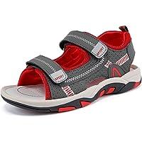 HSNA Sandales Bout Ouvert Garçon Sandales de Marche Été Chaussures de Plage Enfants(25-38 EU)