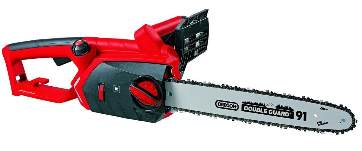 Einhell GE-EC 2240 – Motosierra eléctrica (2200 W, largo de hoja 40 cm, cadena con lubricación automática, velocidad de corte 16 m/s, cadena y espada Oregon)
