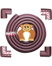 AMAZARA Baby Proofing Edge & Corner Guards   6.5Ft Edge + 4 Pre-Taped Corner Protectors   Child Safety Furniture Cushions   Brown