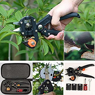 Bluelover Garden Fruit Tree Pro Pruning Shears Scissor Grafting Cutting Tools Suit by Bluelover