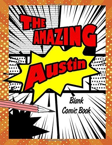 The Amazing Austin: Pop Comic Blank Writing Book