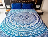 Best Bedspreads - Tiger Export cotton flower print Mandala type bedspread Review