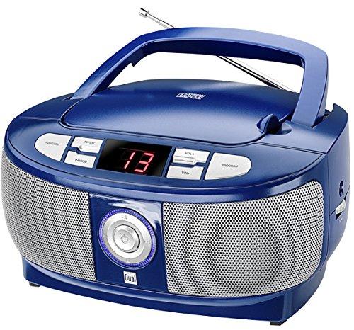 Dual P 49-1 Boombox mit CD-Player (UKW-Radio, LED-Display, Netz- oder Batteriebetrieb) blau