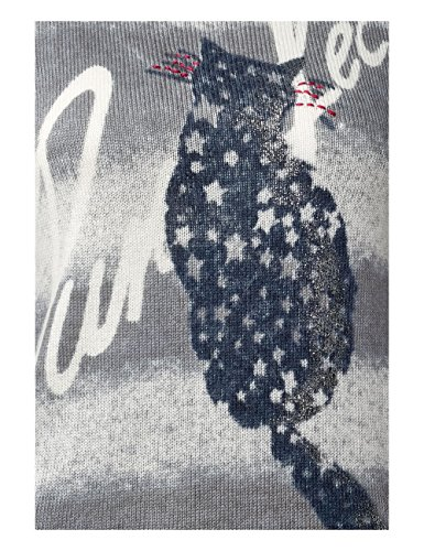 Street One Damen Pullover Grau (Cyber Grey Melange 20767)